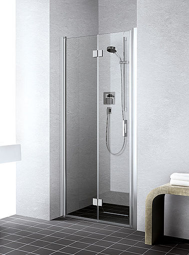 Kermi shower enclosure - Liga - Two-part hinged door with folding mechanism