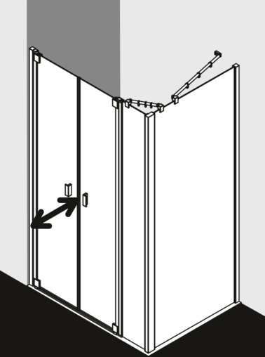Kermi shower enclosure Raya - RA PF / TWD