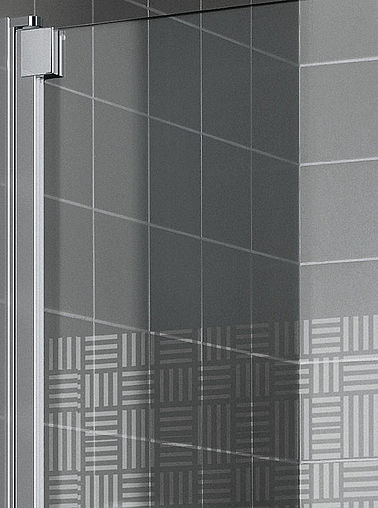 KermiEXTRA - Raya shower enclosure with Arte decor - Detailed picture