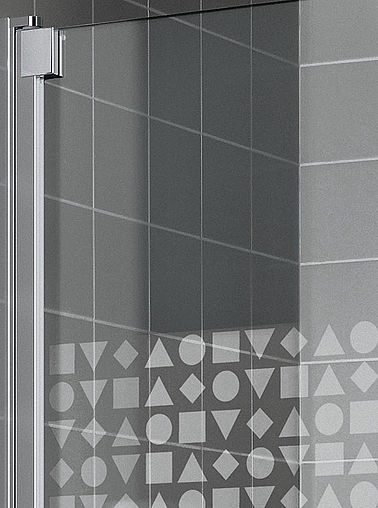 KermiEXTRA - Raya shower enclosure with Geometrie decor - Detailed picture