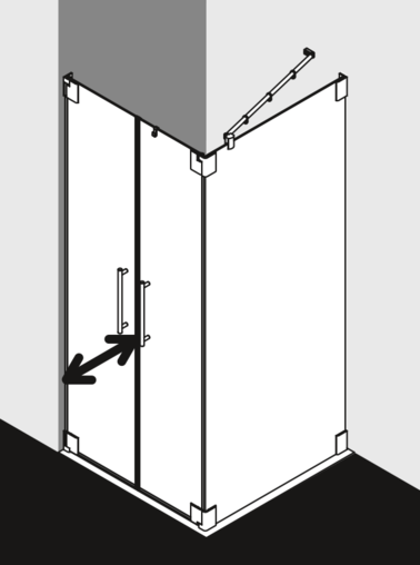 Kermi shower enclosure - Pasa PA PSW / SWD
