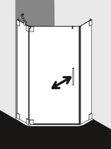 Kermi shower enclosure - Pasa PA EF
