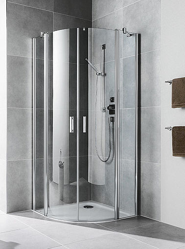 Kermi shower enclosures - Diga - Quadrant shower enclosure