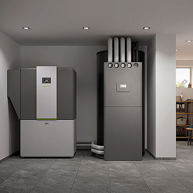 Kermi Heat pump and storage