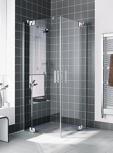 Kermi shower enclosure - Filia XP - Two part hinged door with fixed panels