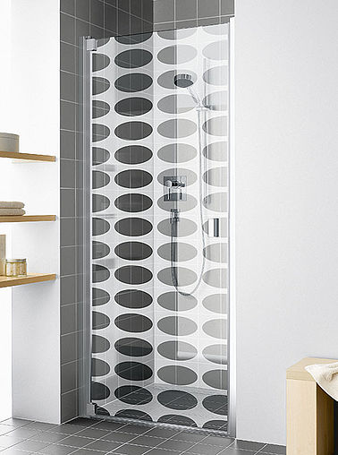 KermiEXTRA - Raya shower enclosure with Ideos decor