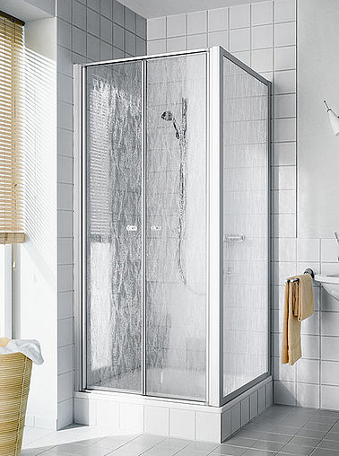 Kermi shower enclosure - Nova 2000 - Two part hinged doors with side panel