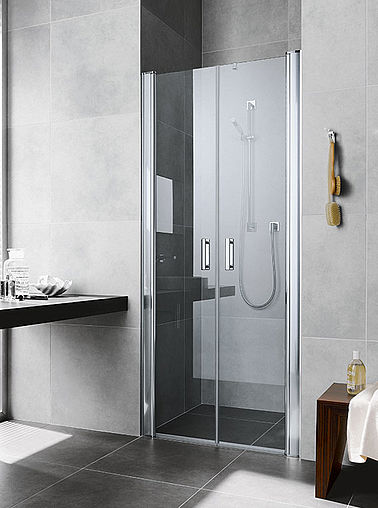 Kermi shower enclosures - Diga - Two part hinged doors