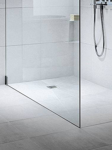 Kermi Walk-In shower enclosure on Point wet floor system - Detailed picture