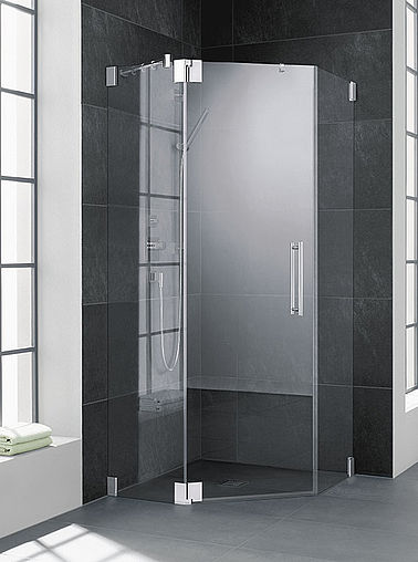 Kermi shower enclosure - Pasa - Two part hinged door with side panels
