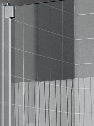 KermiEXTRA - Raya shower enclosure with Line decor - Detailed picture