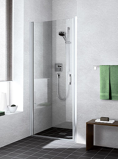 Kermi shower enclosure - Liga - Two part hinged door in recess
