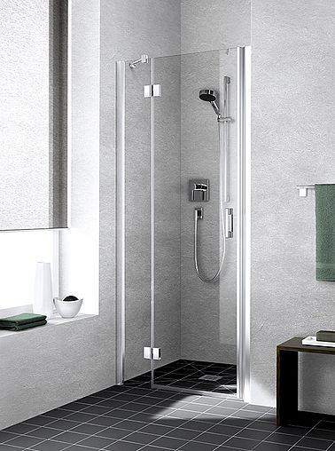 Kermi shower enclosure - Liga - Two part hinged door with fixed panel