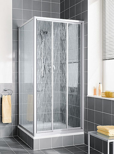 Kermi shower enclosure - Nova 2000 - Three part sliding door with side panel