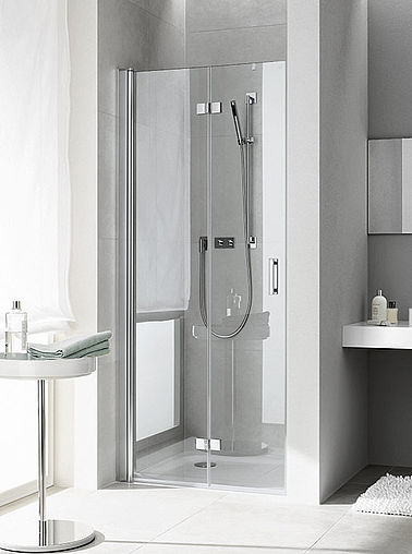 Kermi shower enclosures - Diga - Two part hinged door with folding mechanism