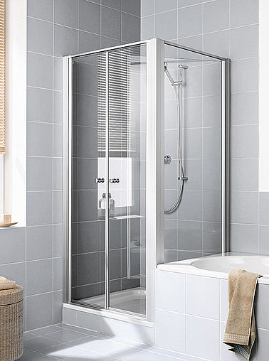 Kermi shower enclosure - Ibiza 2000 - Two part hinged doors with side panel