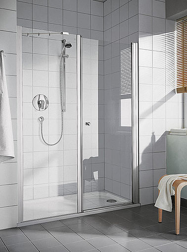 Kermi shower enclosure - Ibiza 2000 - Two part hinged door with fixed panel