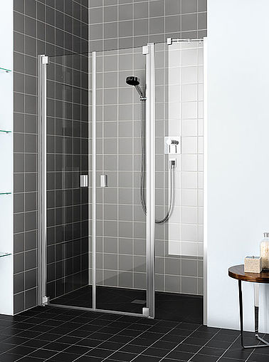 Kermi shower enclosure Raya - Two part hinged door with fixed panel
