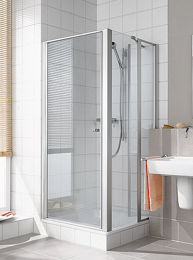 Kermi shower enclosure - Ibiza 2000 - Two-part hinged door and folding door