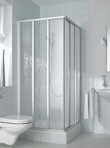 Kermi shower enclosure - Nova 2000 - Three part corner entry