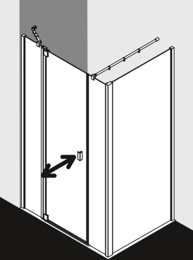 Kermi shower enclosure Raya - RA 1A / TWD