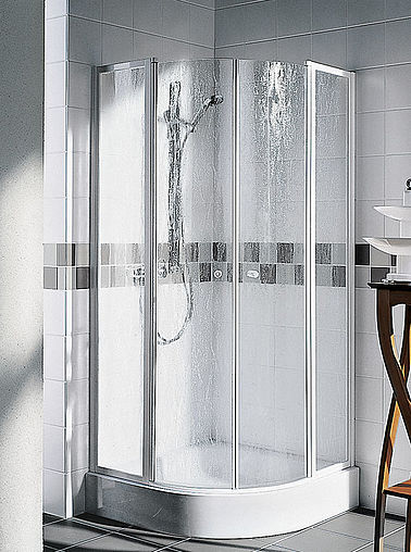 Kermi shower enclosure - Nova 2000 - Quadrant shower enclosure with two part hinged doors