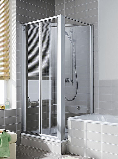 Kermi shower enclosure - Ibiza 2000 - Two-part hinged door with movable side panel
