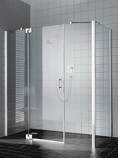 Kermi shower enclosure - Filia XP - Two part hinged door with fixed panels and side panel