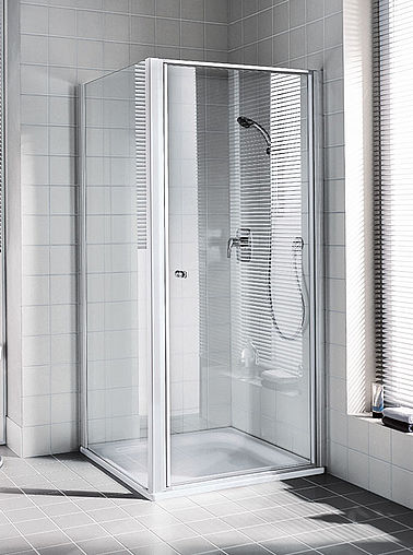 Kermi shower enclosure - Ibiza 2000 - Two part hinged door with side panel