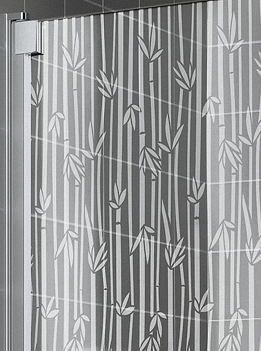 KermiEXTRA - Raya shower enclosure with Bamboo decor - Detailed picture