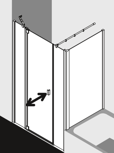 Kermi shower enclosure Raya - RA 1A / TVD