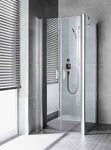 Kermi shower enclosures - Diga - Two part hinged doors with side panel