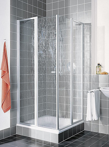 Kermi shower enclosure - Nova 2000 - Two part hinged doors with fixed panels