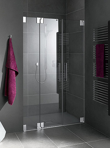 Kermi shower enclosure - Pasa - Two part hinged doors with fixed panel