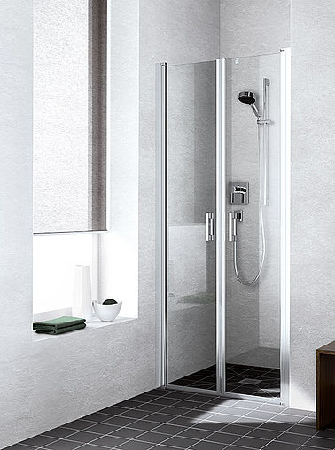 Kermi shower enclosure - Liga - Two part hinged doors in recess