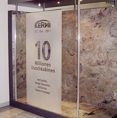 Kermi celebrates 10 million shower enclosures