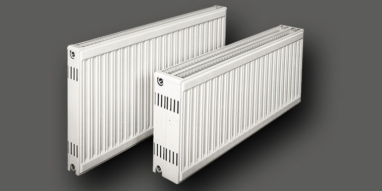 Early Kermi steel panel radiators