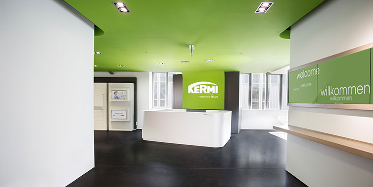 Entrance area of Kermi Campus at headquarters in Plattling