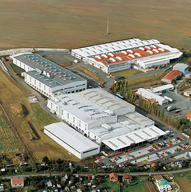 Aerial view of Kermi subsidiary in Stribro, Czech Republic