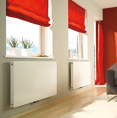 Kermi therm-x2 domestic radiator in living room