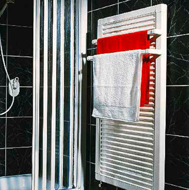 One of the first Kermi steel panel radiator models specially for bathrooms (1989)