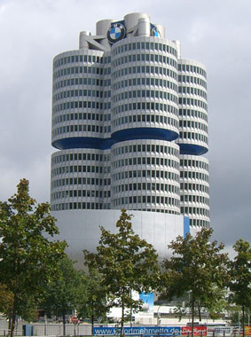 Exterior view of BMW Tower, Kermi references