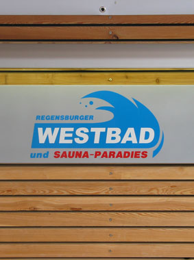 Detailed view of Sauna-Paradies at Westbad Regensburg, Kermi references