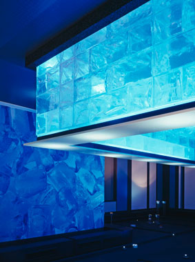 Interior view of Icebar at Volksbank Arena in Hamburg, Kermi references (source: Alexander Otto Sports Foundation)
