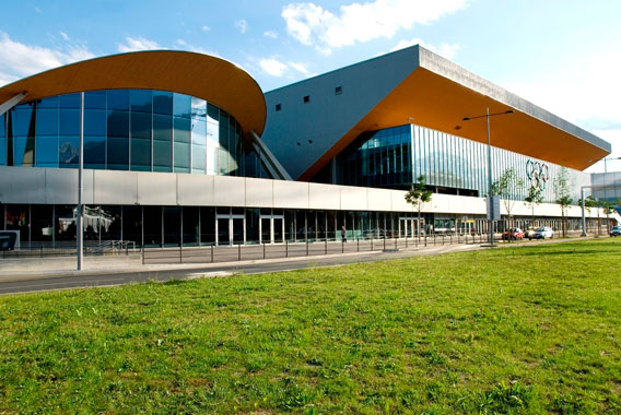 Exterior view of Olympiahalle Innsbruck, Kermi references (source: Olympiaworld Innsbruck)