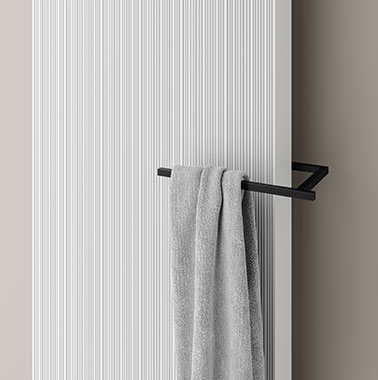 Kermi design radiator Decor-Arte Line with short rail accessory