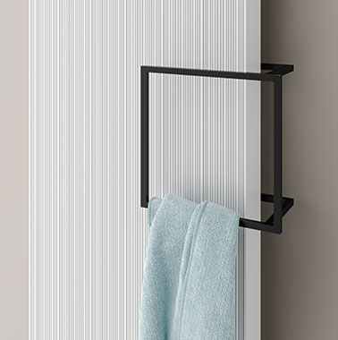 Kermi design radiator Decor-Arte Line with square rail accessory
