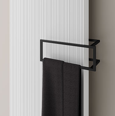 Kermi design radiator Decor-Arte Line with rectangle rail accessory