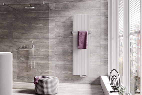 Kermi design radiator Decor-Arte Line the perfect bathroom radiator thanks to functional towel rails