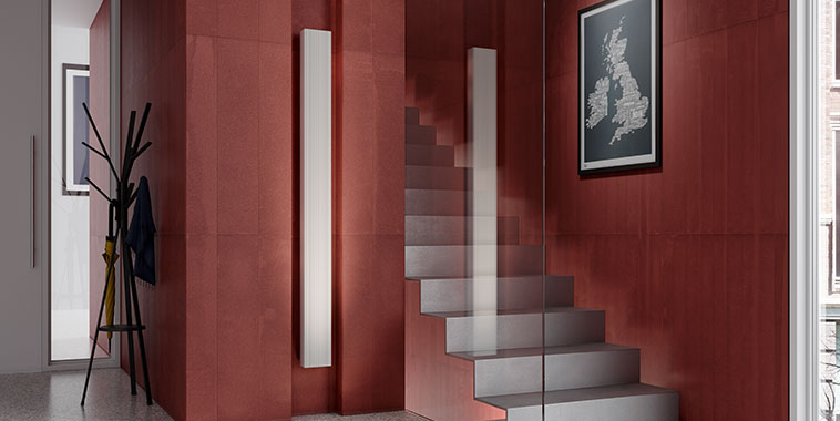 Kermi design radiator Decor-Arte Line as an individual component in the 150 mm width